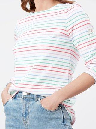Biele dámske pruhované tričko Tom Joule