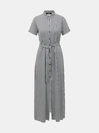 Bílo-modré pruhované košilové maxišaty ZOOT Lorelei