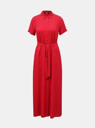 Červené košilové maxišaty ZOOT Nere