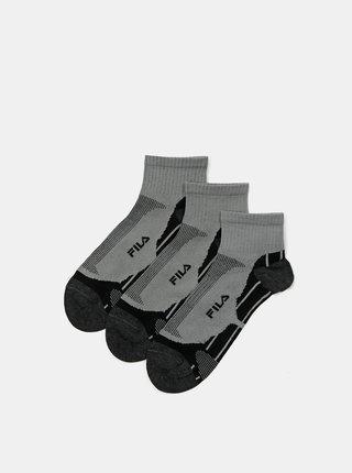 Sada troch párov šedých dámskych ponožiek FILA