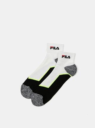 Sada dvoch párov bielych dámskych ponožiek FILA