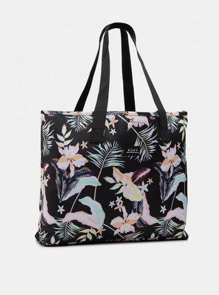 Černá květovaná plážová taška Roxy