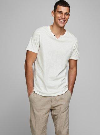 Biele tričko s gombíkmi Jack & Jones Esplit