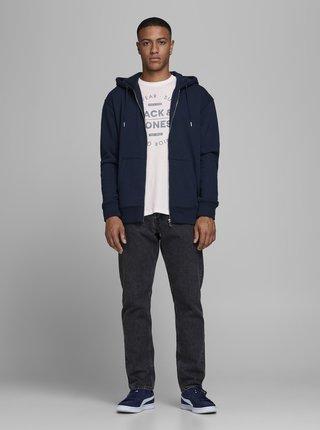Biele tričko s potlačou Jack & Jones Jeans