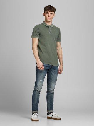Zelené polo tričko Jack & Jones Washed