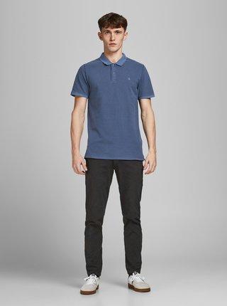 Modré polo tričko Jack & Jones Washed