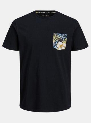 Černé tričko s kapsou Jack & Jones Pock