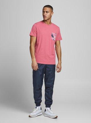 Ružové tričko s vreckom Jack & Jones Pock