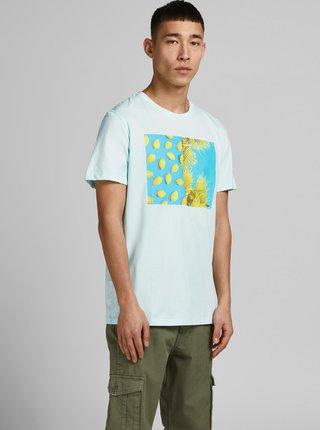 Světle modré tričko s potiskem Jack & Jones Summer