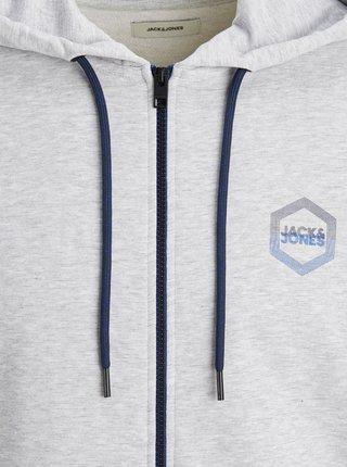 Světle šedá mikina s kapucí Jack & Jones Delight