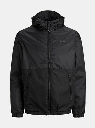 Černá lehká bunda s kapucí Jack & Jones Hunter