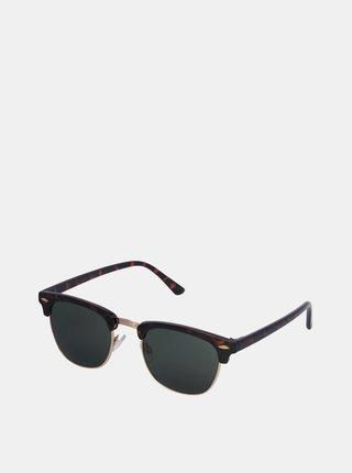 Hnědo-černé vzorované sluneční brýle Jack & Jones Ryder