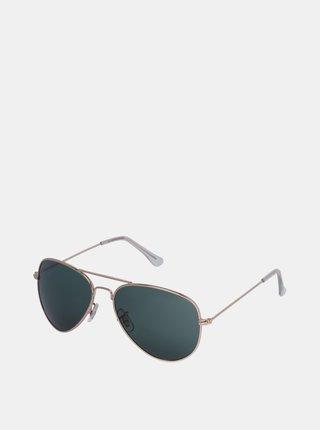 Slnečné okuliare v zlatej farbe Jack & Jones Ryder