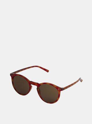 Hnedé vzorované slnečné okuliare Jack & Jones Parker