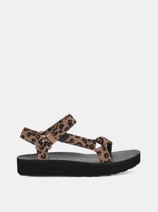 Hnědé dámské vzorované sandály Teva