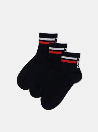 Sada tří párů tmavě modrých dámských ponožek FILA