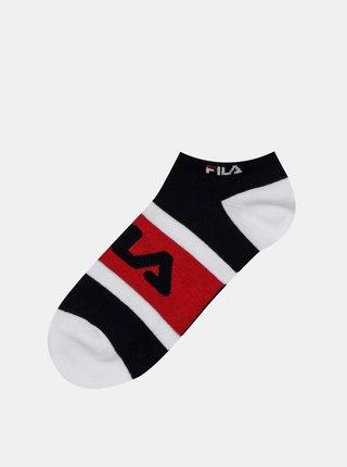 Sada dvou párů dámských ponožek v černé a bílé barvě FILA