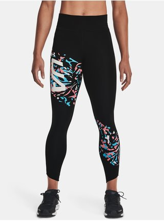 Legíny Under Armour UA Fly Fast Floral 7/8 Tight-BLK