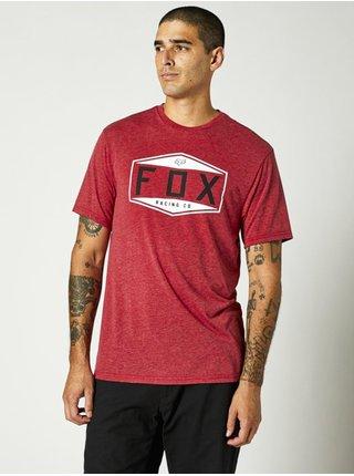 Fox Emblem Tech chilli pánské triko s krátkým rukávem - červená