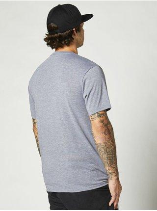 Fox Emblem Tech HEATHER GRAPHITE pánské triko s krátkým rukávem - šedá