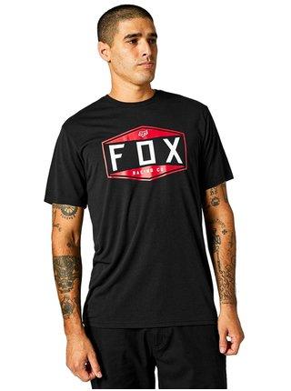 Fox Emblem Tech black pánské triko s krátkým rukávem - černá