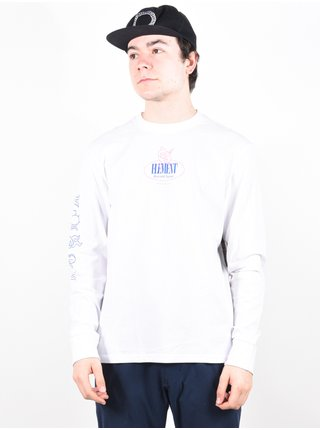 Element BPEX OPTIC WHITE pánské triko s dlouhým rukávem - bílá
