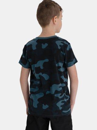 Tmavě modré klučičí maskáčové tričko SAM 73