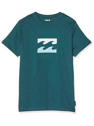 Billabong TEAM WAVE THEME DEEP TEAL dětské triko s krátkým rukávem - zelená