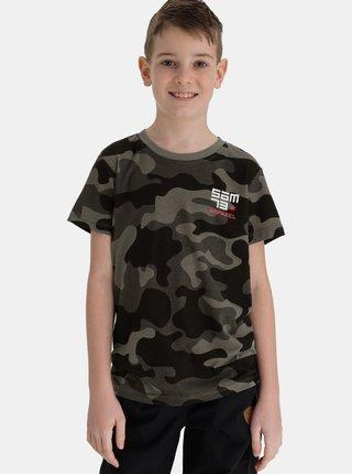 Tmavě šedé klučičí maskáčové tričko SAM 73