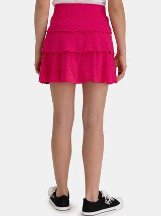 Ružová dievčenská vzorovaná sukňa SAM 73