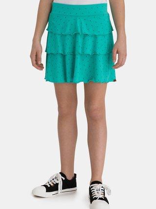 Tyrkysová holčičí vzorovaná sukně SAM 73