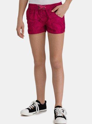 Růžové holčičí vzorované kraťasy s kapsami SAM 73