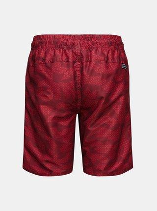 Červené chlapčenské vzorované plavky SAM 73