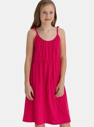 Růžové holčičí šaty na ramínka SAM 73