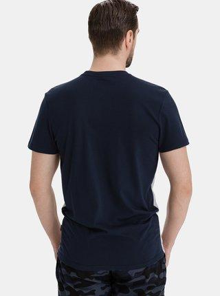 Šedo-modré pánske tričko SAM 73