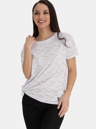 Bílé dámské vzorované volné tričko SAM 73