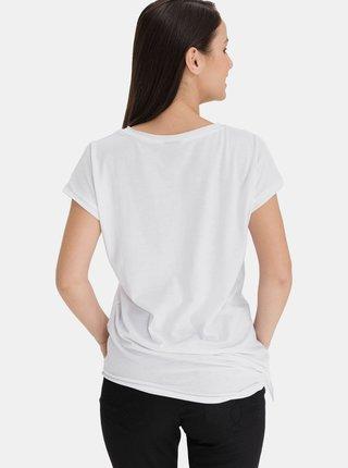 Bílé dámské asymetrické tričko SAM 73