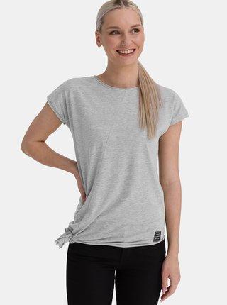 Šedé dámské asymetrické tričko SAM 73