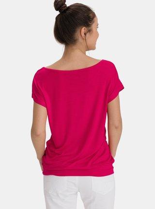 Růžové dámské dlouhé tričko SAM 73