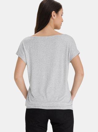 Šedé dámské dlouhé tričko SAM 73