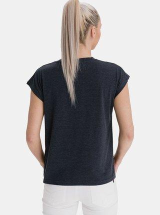 Tmavě šedé dámské tričko s potiskem SAM 73