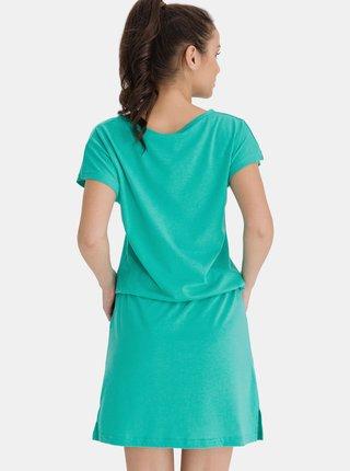 Zelené dámské šaty se zavazováním SAM 73