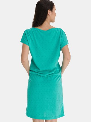 Tyrkysové dámské vzorované šaty SAM 73