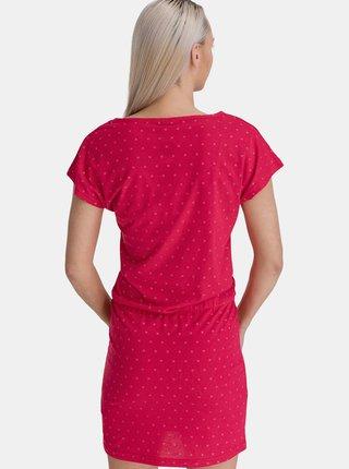 Růžové dámské vzorované šaty SAM 73