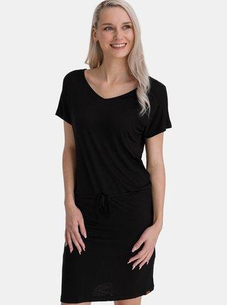 Černé dámské šaty se zavazováním SAM 73