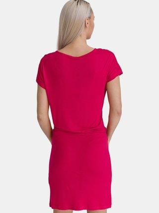 Růžové dámské šaty se zavazováním SAM 73
