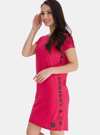 Růžové dámské šaty s potiskem SAM 73