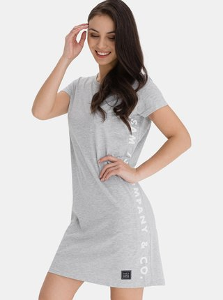 Šedé dámské šaty s potiskem SAM 73