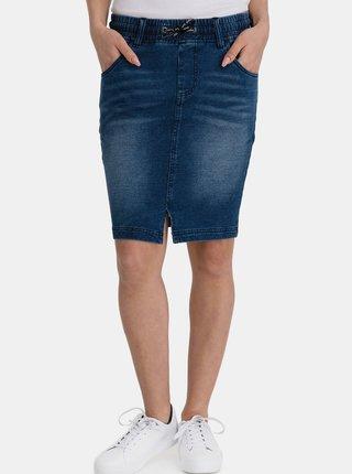 Modrá dámská pouzdrová džínová sukně SAM 73