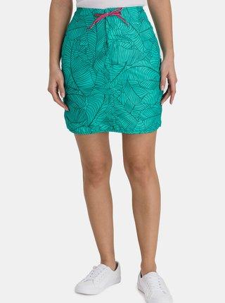 Tyrkysová dámska vzorovaná sukňa s vreckami SAM 73